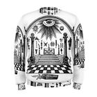 Freemason Masonic Eye Sublimation Men's Sweatshirt S,M,L,XL,2XL,3XL