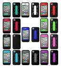 Robot Shockproof Hybrid Kickstand Protective Case Cover for iPhone 4 4s