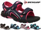 Ladies Dunlop Flat OpenToe Velcro Strap Sports Trekking Beach Sandals Shoes Size