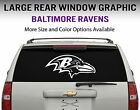 Baltimore Ravens Window Decal Graphic Sticker Car Truck SUV - Choose Size on eBay