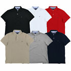 Tommy Hilfiger Mens Polo Shirt Custom Fit Knit Mesh Short Sleeve Collared New