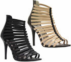 Ladies Ankle Strappy Open Toe Party Womens Stiletto High Heel Sandals Shoes Size