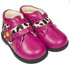 Girls Kids Toddler Infants Childrens Real Leather Ankle Boots Hot Pink Wide Fit