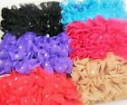 BLACK PLASTIC BANANA HAIR CLIP CHIFFON RIBBON  SELECT COLOR SAVE on COMBINE SHIP