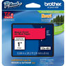 "Brother TZ451 TZe451 24mm 1"" inch black on red TZ tape PT520 PT2430 P-Touch"