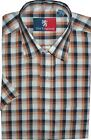 OLD ENGLAND COTTON RICH SHORT SLEEVED SMART CASUAL SHIRT (PAPRIKA) IN SIZE S-XXL