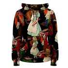 Alice in Wonderland Sublimated Women's Hoodie S,M,L,XL,2XL,3XL