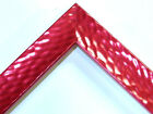 """1"""" Wide Red High End Hammered Industrial Picture Frame-Custom Standard Sizes"""