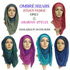 JERSEY OMBRÉ TIE DIE 2 in 1 COLOUR MAXI LARGE HIJAB SCARF SHAWL ABAYA SARONG****