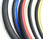 Pair of 700x35c Road Bike Tires Color: Black Black w /Gum white red blue