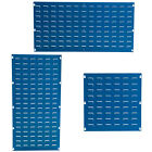 Blue Louvre Panel For Plastic Parts Bins Boxes Accessories Storage Garage BiGDUG