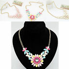 CHIC Women Multicolor Flower Pendant Collar Chain Choker Necklace Party Jewelry