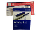 Writing Pad 200 pages Quality Plain or Lined Ruled Paper Duke Size 56gsm white