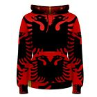 Albania Albanian Coat of Arms Sublimated Women's Hoodie S,M,L,XL,2XL,3XL