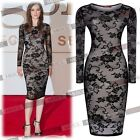 New Black Ladies' Celeb Vintage Lace Sexy Bodycon Cocktail Evening Party Dresses