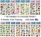 3 Sheets Puffy 3D Stickers Birthday Party Favors Scrapbook, YOU PICK ANY THEME