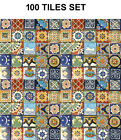 4x4 TILES ASSORTED DESIGNS MEXICAN TALAVERA MOSAIC HAND PAINTED BACKSPLASH TILE