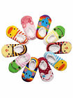 5 Pairs Cartoon Baby Toddler 9-15cm Lovely Lace Anti Slip Skid Socks 0-3Y Multi