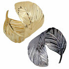 CHIC Charms Jewelry Leaf Bangle Fashion Gold Plated Cuff Bracelet Alloy Jewelry