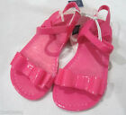 NWT Girls BABY GAP Pink Bow Jelly Jellies Sandals Shoes 6 7 8 9 10