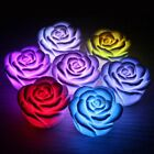 7 Color Changing Rose Flower LED Light Lamp Candle Tea Light Home Decoration