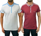 Mens Designer Voi Jeans Polo T Shirt Smart Collared Jersey Pique Top Lomax Tee