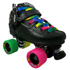 Black or White ROCK GT50 Confetti Rainbow Zoom Quad Roller Derby Speed Skates
