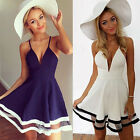 Fashion Summer Sexy Plunge V Neck Spaghetti Strap Clubwear Party Dress for Women