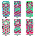 "Flower Hybrid PC Silicone Shock Dirt Proof Back Case Cover For 4.7"" iPhone 6"