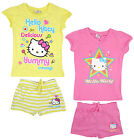Girl's Hello Kitty Cotton T-Shirt Top & Shorts Yummy Star Set 4 6 8 10 Years NEW
