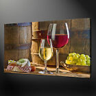 WINE GRAPES CHEESE VINTAGE CANVAS PRINT WALL DESIGN READY TO HANG