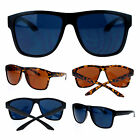 Mens Trendy Oversize Sporty Horn Rim Gangster Plastic Rectangular Sunglasses
