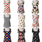 CHIC Korean Women Sleeveless Floral Vest Tank Chiffon Tops Blouse T shirt S-XXXL