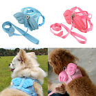 New Pet Cat Dog Puppy Rabbit Pig Angle Wing Mesh Harness Leash Rope S