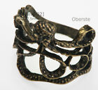 Octopus Paul Ring, Copper Brass Plated