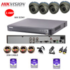 HIKVISION DVR 4 CHANNEL 4xCCTV CAMERA OUTDOOR SYSTEM KIT VARIFOCAL 1080P P2P