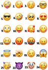 EMOTICON EMOJI ICONS IRON ON HEAT TRANSFER OR STICKER SMILEY FACE LOT EJ2