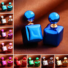 Charm Elegant Candy Double Sided Round Pearl Earings Square Ball Ear Studs