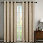 Bella Blackout Weave Window Curtain Panels Pair (Set Of 2)