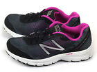 New Balance W575BK1 D Black & Fuchsia & Silver-White Stability Running Shoes NB