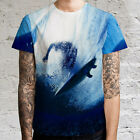 Surf Surfing and Blue Ocean Mens T-Shirt