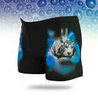 Summer Men's Sexy Digital Printing Tiger Beach Shorts Swimming Trunks Swimwear