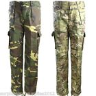 KIDS ARMY TROUSERS MTP BTP DPM AGE 3-13 CADET BOYS GIRLS CAMOFLAUGE AIRSOFT