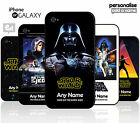 Star Wars PERSONALISED Hard Phone Case for iPhone / Galaxy ADD NAME Movie Film £4.95 GBP