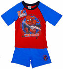 Boys Ultimate Spiderman Web Head Cotton Shorty Pyjamas Pj's 4-10 Years NEW