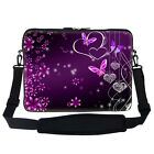 Laptop Computer Sleeve Case Bag w Handle & Shoulder Strap Fit Asus Dell HP 14""