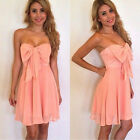 Sexy Women Summer Pink Sleeveless Casual Evening Party Cocktail Short Mini Dress