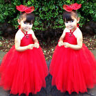 NEW Girl Kid Gown Wedding Prom Baby Bridesmaid Flower Princess Party Lace Dress