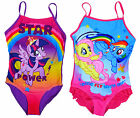 Girl's My Little Pony Star Power Swimming Costume Bathing Suit 4 to 10 Years NEW
