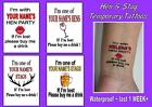 LOST HEN or STAG NIGHT TATTOOS temporary  waterproof  tattoo 1WEEK+